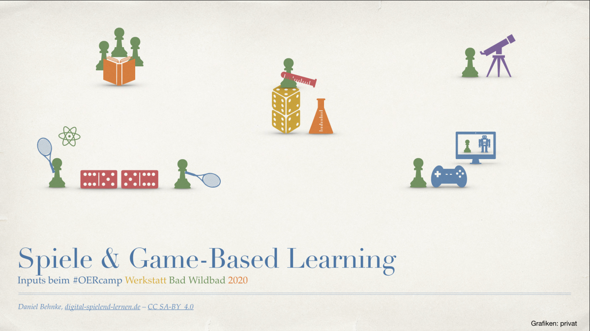 Spiele & Game-Based Learning – Inputs zur #OERcamp Werkstatt Bad Wildbad